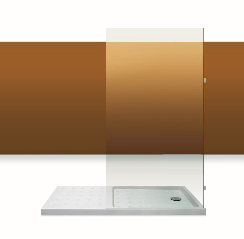 Paroi de douche Innovativ en verre trempé d'épaisseur 8 mm avec pinces en laiton chromé
