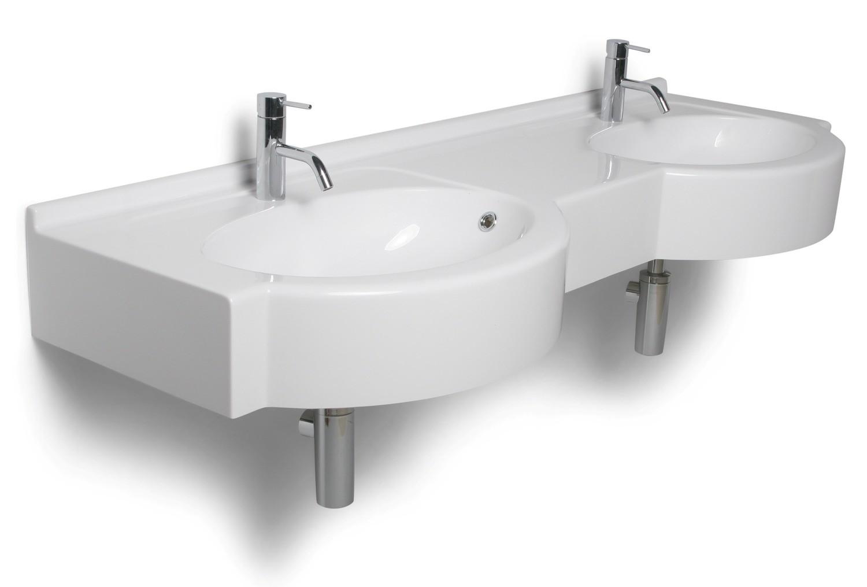 Plan-vasque double Riviera 140 ou 160 cm