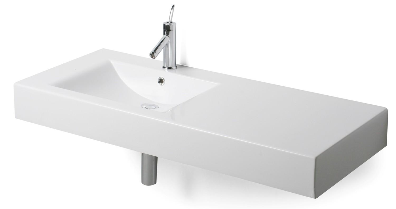Plan-vasque décentré Spazio 120 cm
