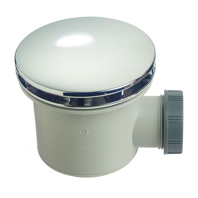 Bonde de douche Wirquin Tourbillon avec dôme en ABS chromé