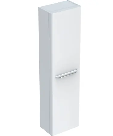 Colonne haute Geberit / Keramag myDay 150 cm avec une porte en blanc laqué ultra-brillant