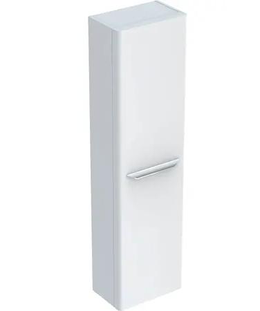 Armoire haute Keramag myDay 150 cm en blanc laqué ultra-brillant