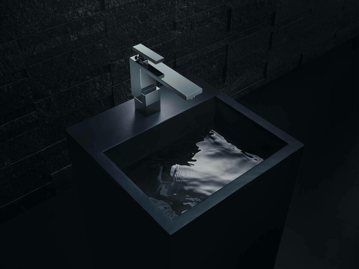 Mitigeur de lavabo AXOR Edge 130 avec bonde push-open