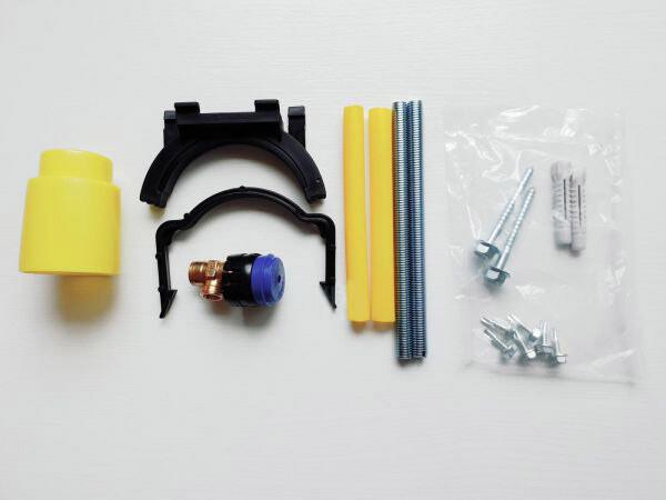 Accessoires de montage pour réservoir encastré Geberit Duofix Delta 12 cm et Duofix Alpha 8 cm
