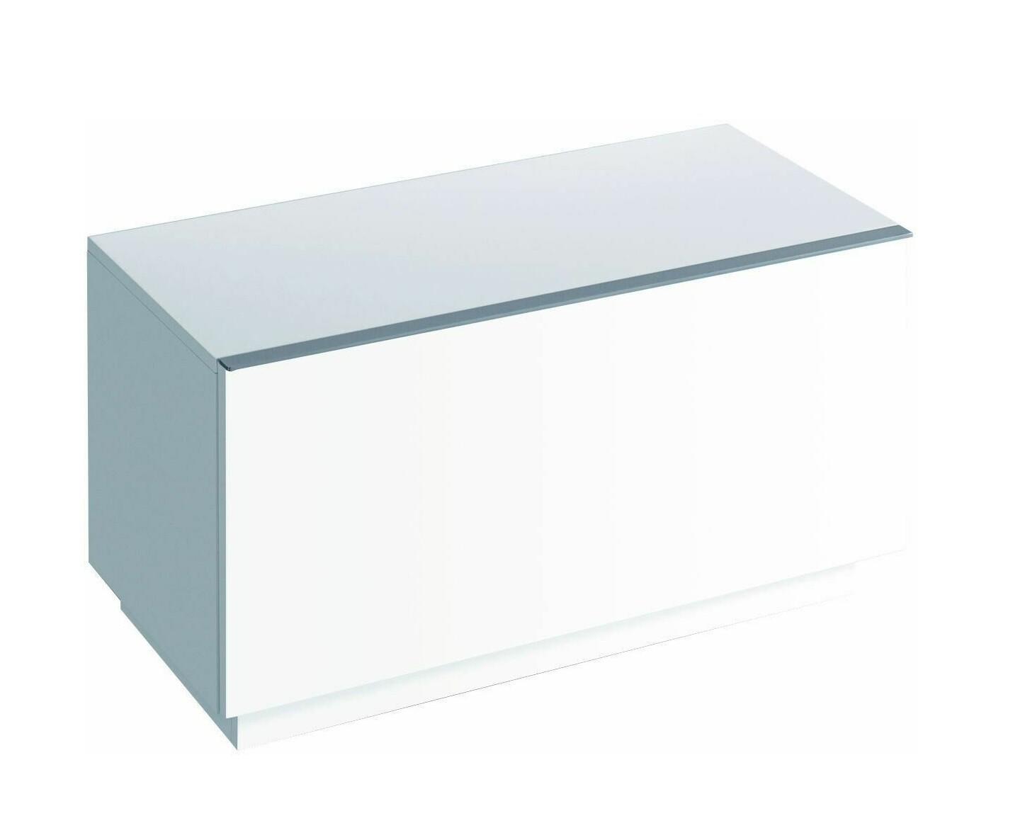 Meuble latéral bas Geberit / Keramag iCon 89 cm avec un tiroir au sol en blanc laqué ultra-brillant