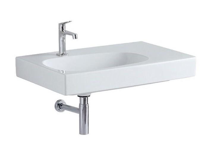 Plan-vasque Geberit / Keramag Citterio 75 cm avec espace de rangement à droite