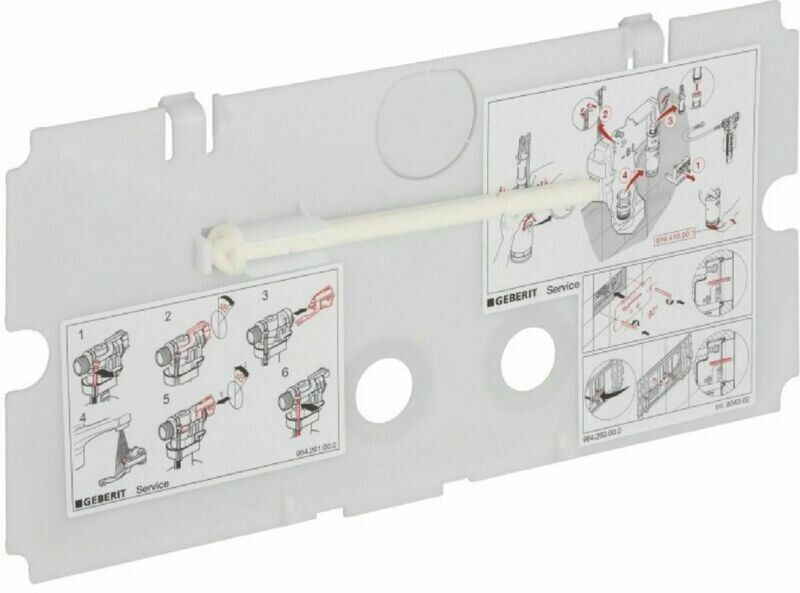 Plaque de protection Geberit pour réservoir à encastrer Twinline 8 cm et 12 cm