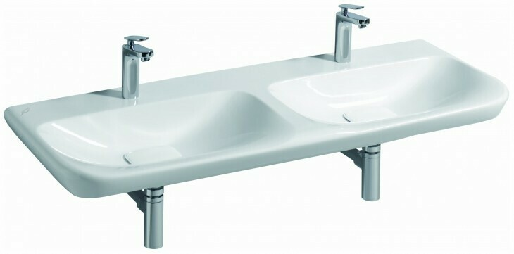 Plan-vasque double Geberit / Keramag myDay 130 cm