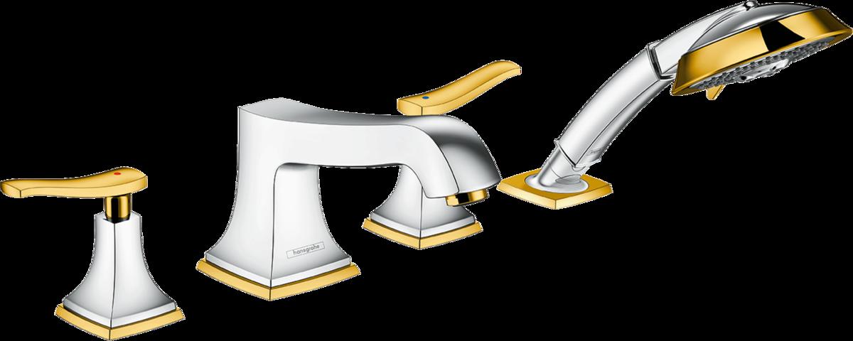 Mélangeur 4 trous pour montage sur bord de baignoire Hansgrohe Metropol Classic