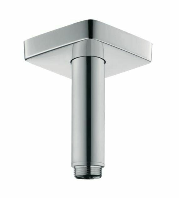 Bras de douche plafonné Hansgrohe 100 mm avec rosace carrée