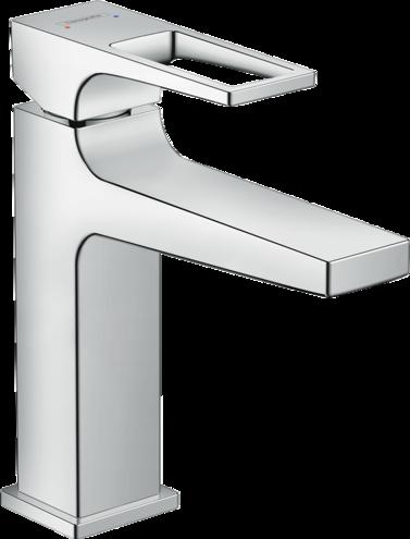 Mitigeur de lavabo Hansgrohe Metropol 110 avec poignée étrier et bonde Push-Open