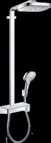 Colonne de douche Showerpipe Hansgrohe Raindance Select E 300 3 jets avec mitigeur thermostatique ShowerTablet Select 300