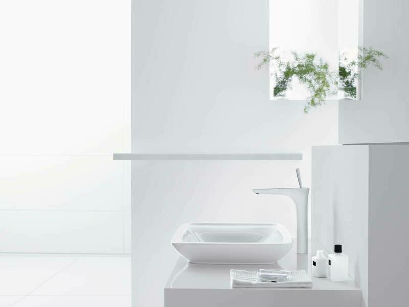 Mitigeur de lavabo Hansgrohe PuraVida 240 surélevé pour vasque libre avec flexibles de raccordement 900 mm, bonde Push-Open