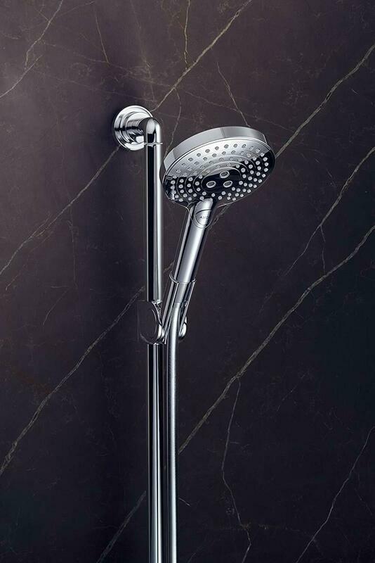 Barre de douche AXOR Citterio avec douchette à main Showersolutions  120 3 jets, curseur et flexible 1,6 m