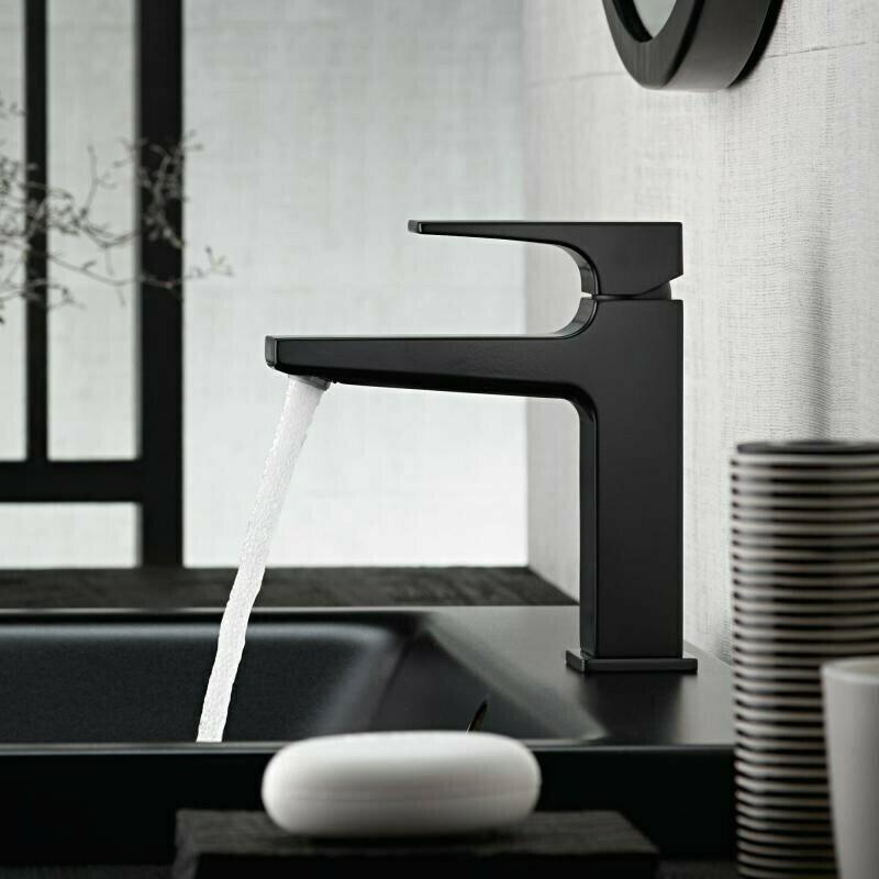 Mitigeur de lavabo Hansgrohe Metropol 110 en noir mat avec bonde Push-Open