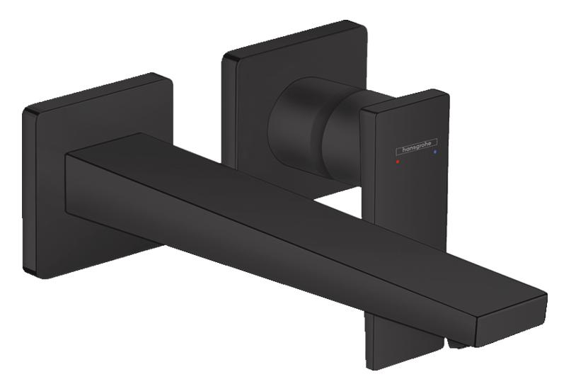 Mitigeur de lavabo encastré Hansgrohe Metropol 225 mm en noir mat