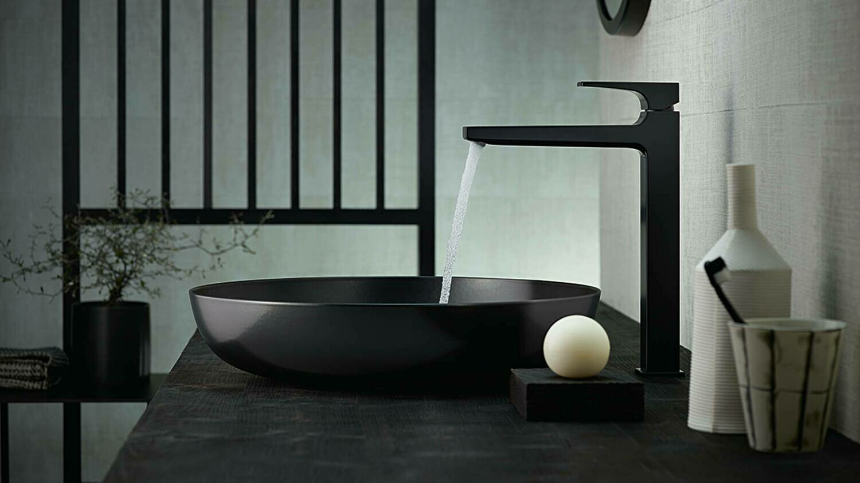 Mitigeur de lavabo Hansgrohe Metropol 260 avec bonde Push-Open en noir mat