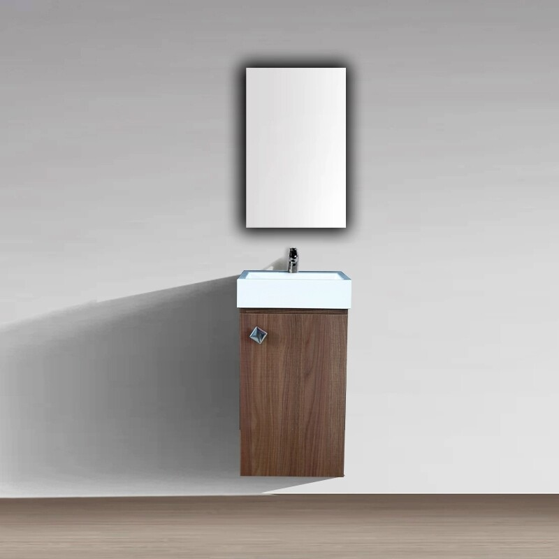Plan-vasque Aden 35 cm avec meuble et miroir