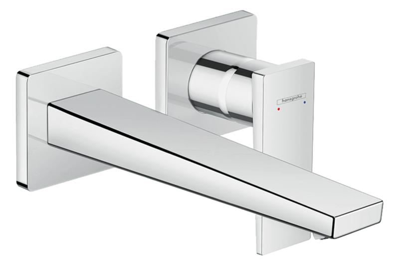 Mitigeur de lavabo encastré Hansgrohe Metropol 225 mm en laiton chromé