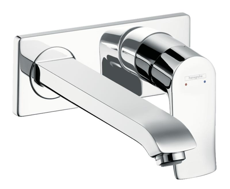 Mitigeur de lavabo encastré Hansgrohe Metris 225 mm en laiton chromé