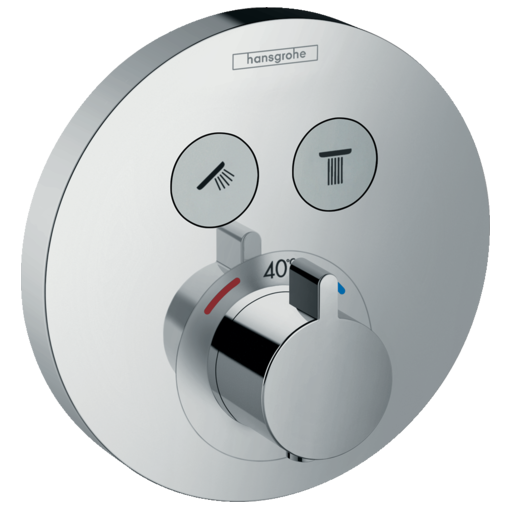 Set de finition pour mitigeur thermostatique encastré Hansgrohe ShowerSelect S
