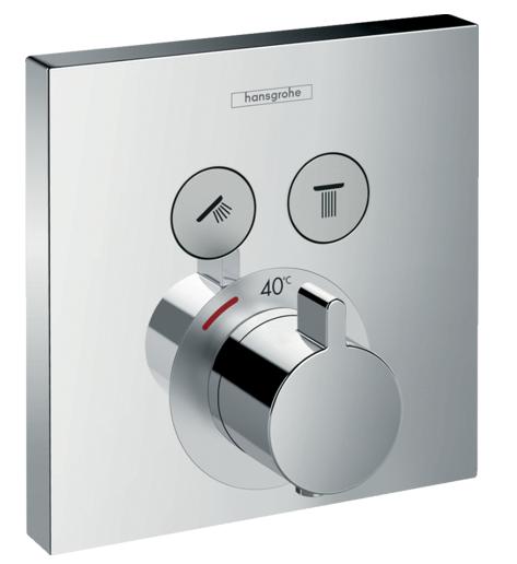 Set de finition pour mitigeur thermostatique encastré Hansgrohe ShowerSelect