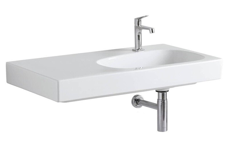 Plan-vasque Geberit Citterio 90 cm avec espace de rangement à gauche