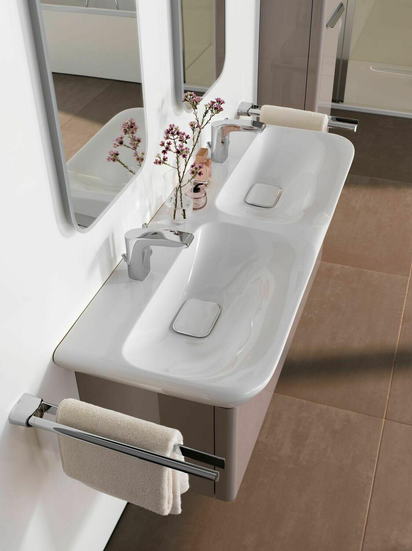Plan-vasque double Geberit myDay 130 cm