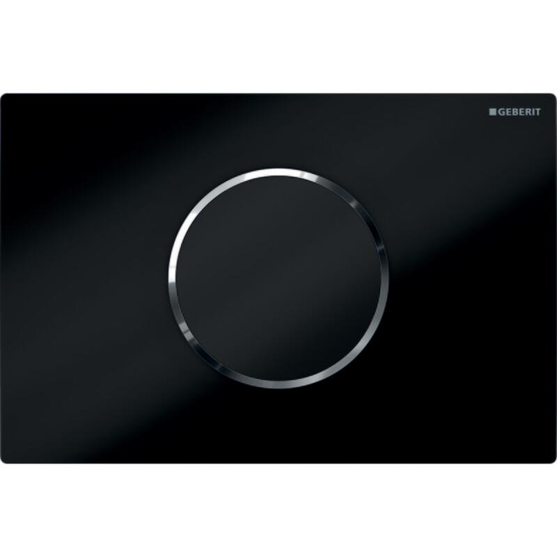 Plaque de déclenchement infrarouge Geberit Sigma10 / Noir chromé