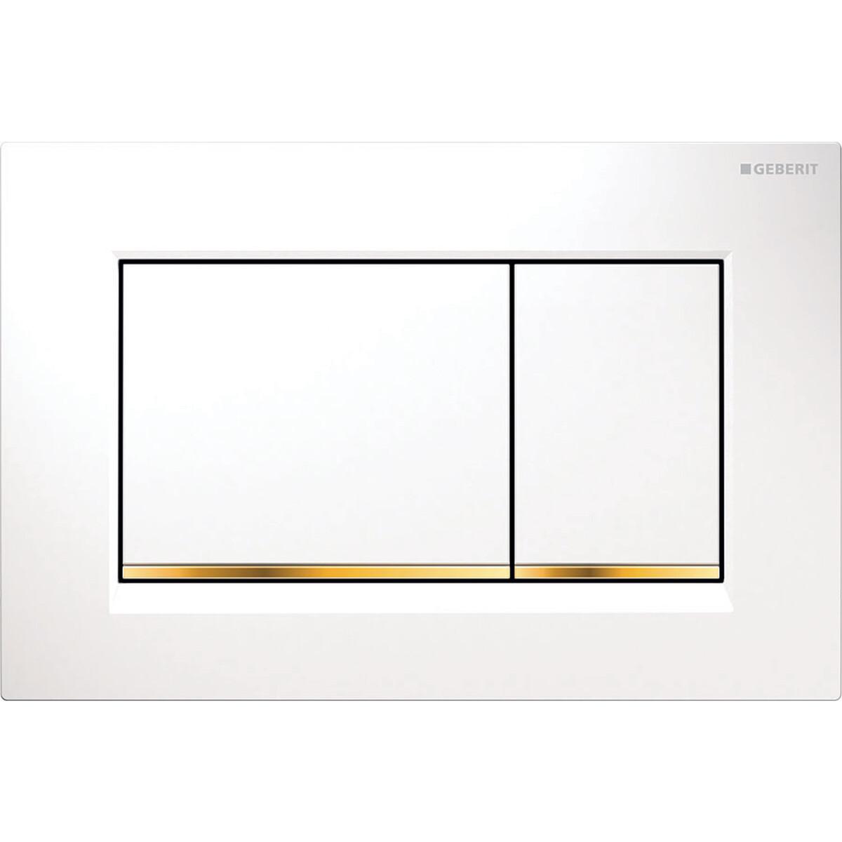 Plaque de déclenchement Geberit Sigma30 / Blanc doré