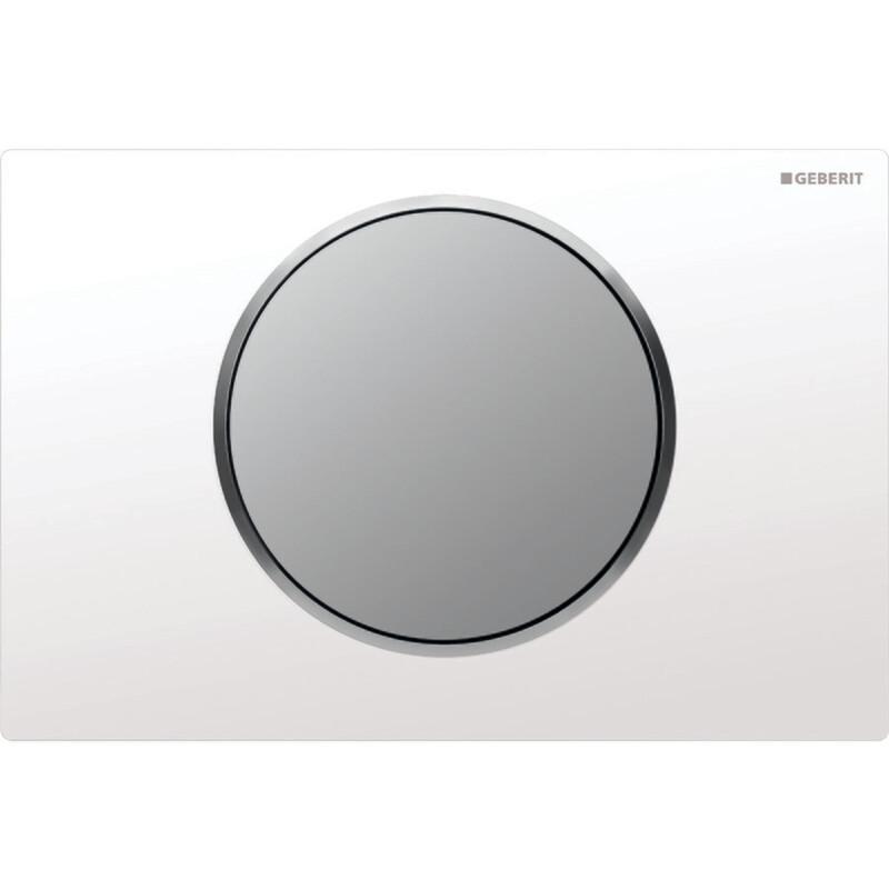 Plaque de déclenchement Geberit Sigma10 / Blanc - Chromé mat
