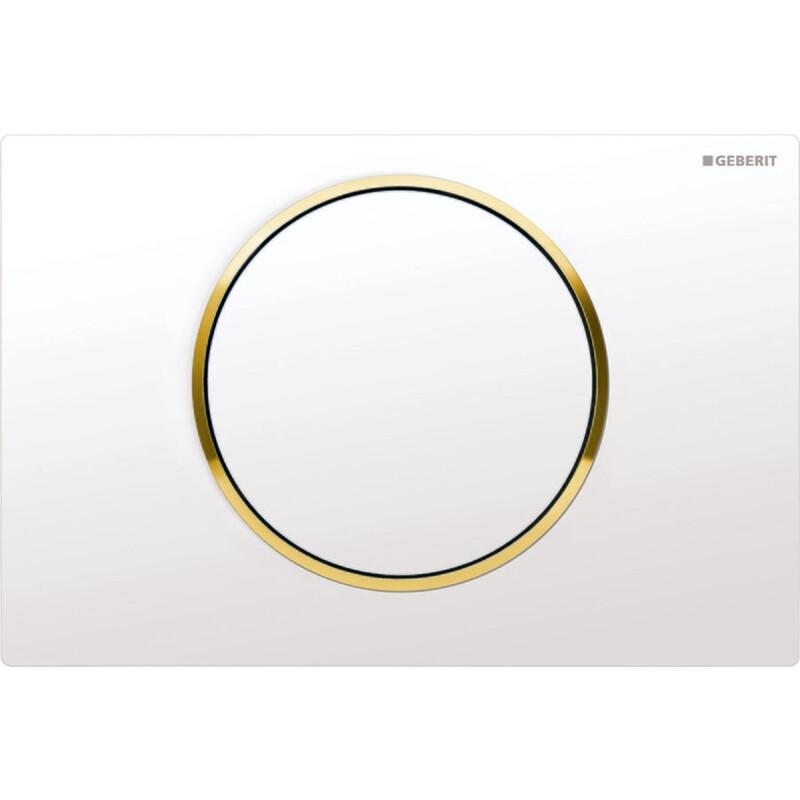 Plaque de déclenchement Geberit Sigma10 / Blanc doré