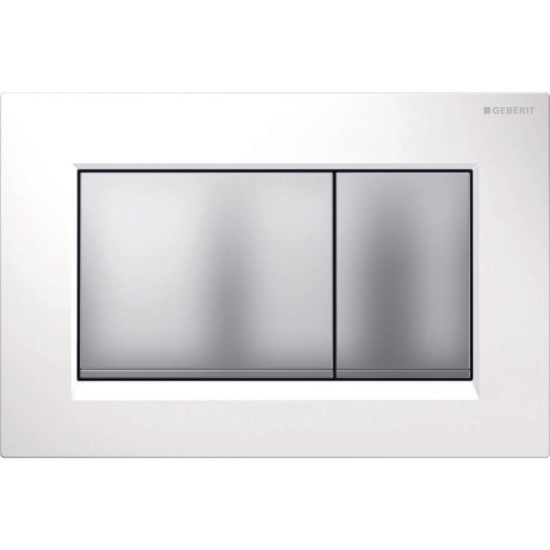 Plaque de déclenchement Geberit Sigma30 / Blanc - Chromé mat