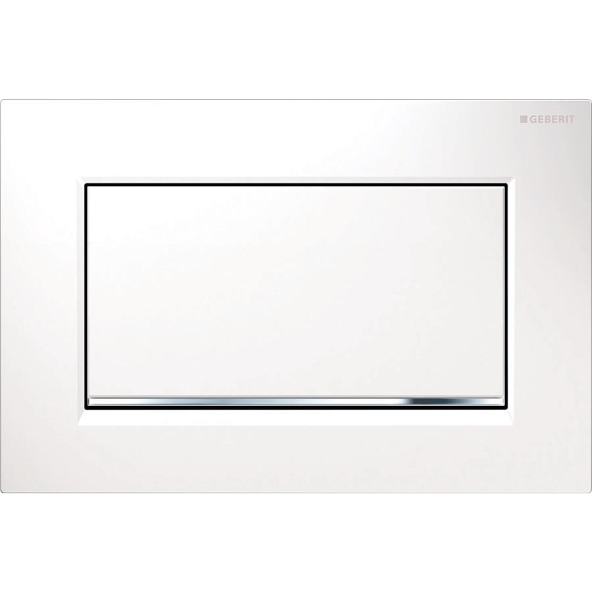 Plaque de déclenchement Geberit Sigma30 à visser / Blanc