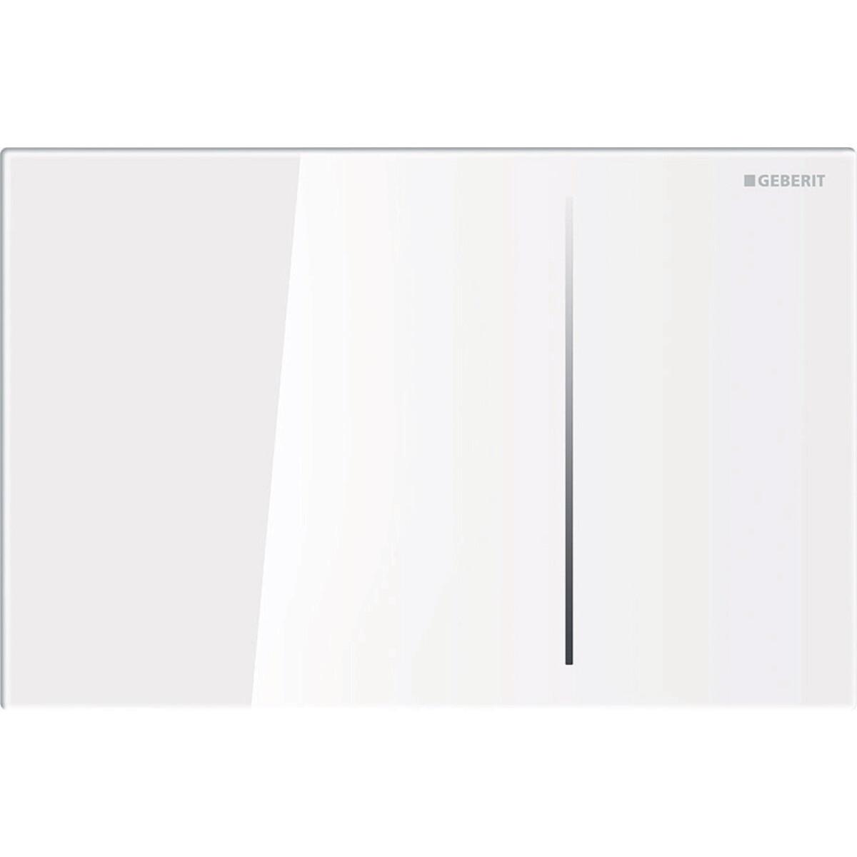 Plaque de déclenchement Geberit Sigma70 pour réservoir à encastrer Sigma 8 cm / Verre blanc