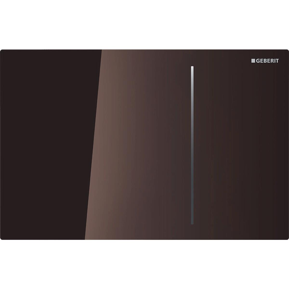 Plaque de déclenchement Geberit Sigma70 pour réservoir à encastrer Sigma 12 cm / Verre chocolat