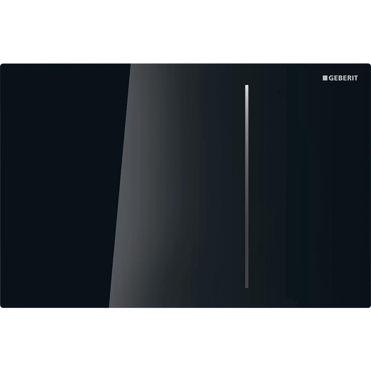 Plaque de déclenchement Geberit Sigma70 pour réservoir à encastrer Sigma 8 cm / Verre noir