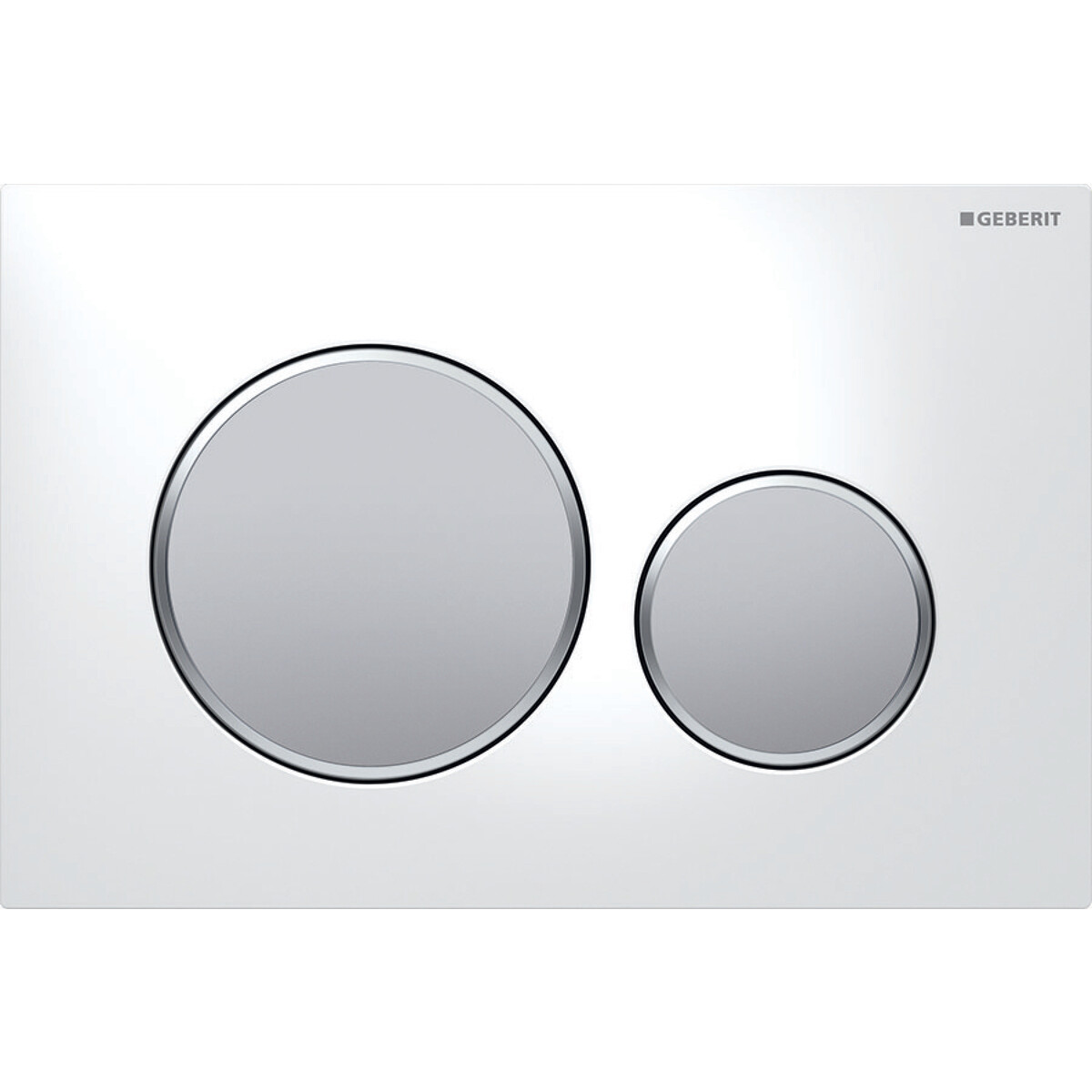 Plaque de déclenchement Geberit Sigma20 / Blanc - Chromé mat