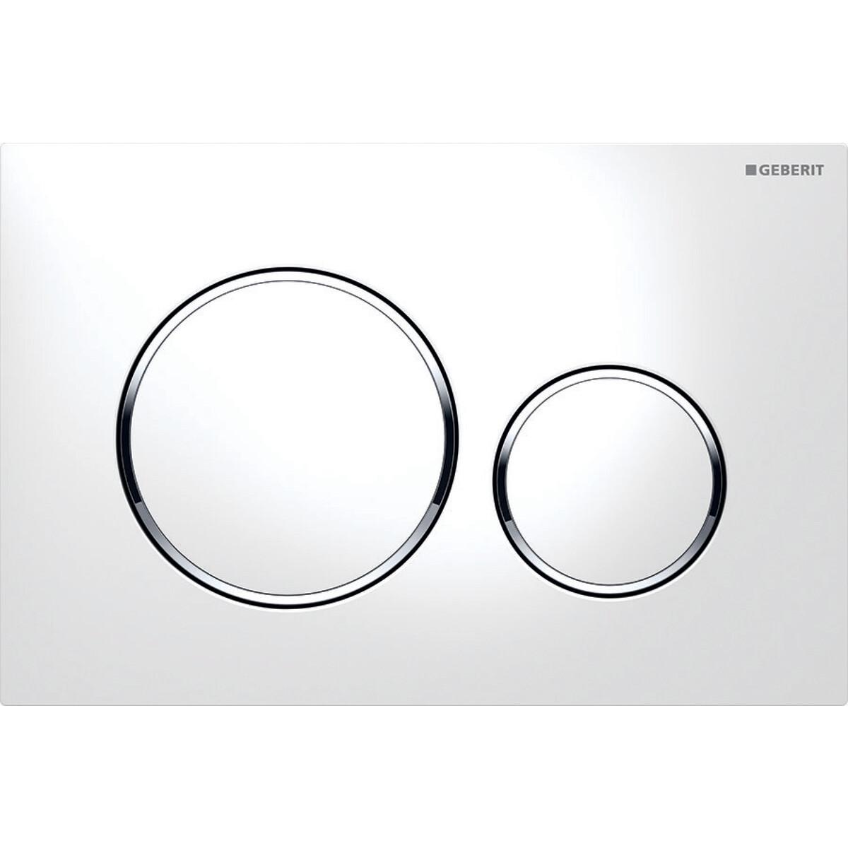 Plaque de déclenchement Geberit Sigma20 / Blanc chromé