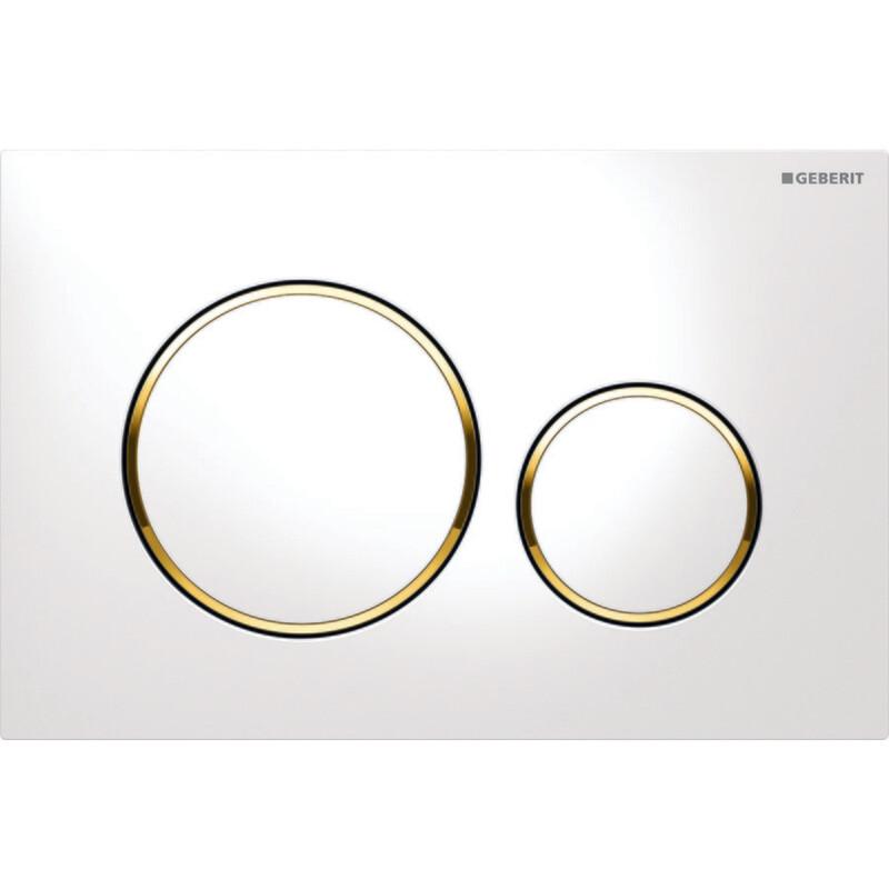 Plaque de déclenchement Geberit Sigma20 / Blanc doré