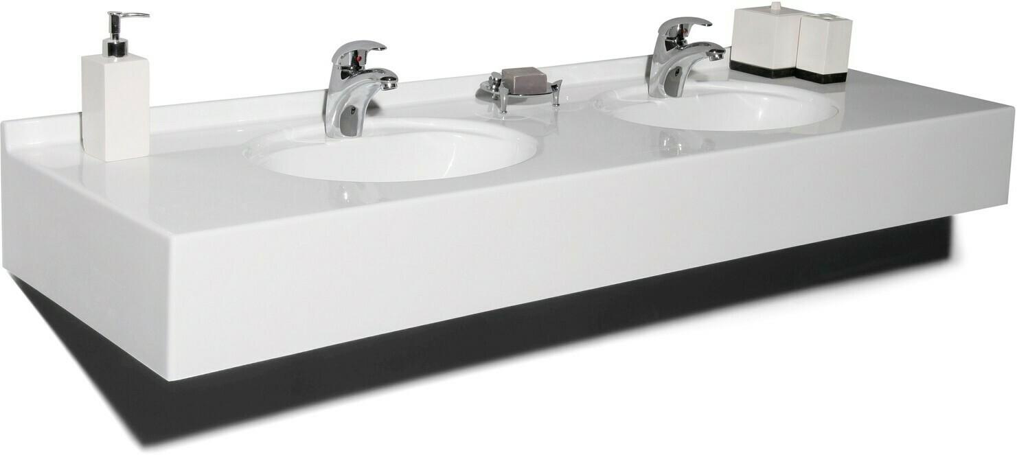 Plan-vasque double Atoll 160 cm