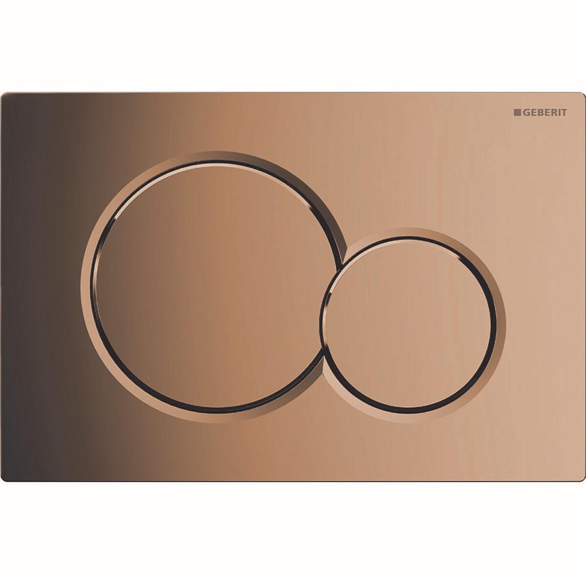 Plaque de déclenchement Geberit Sigma01 / Laiton spécial galvanisé