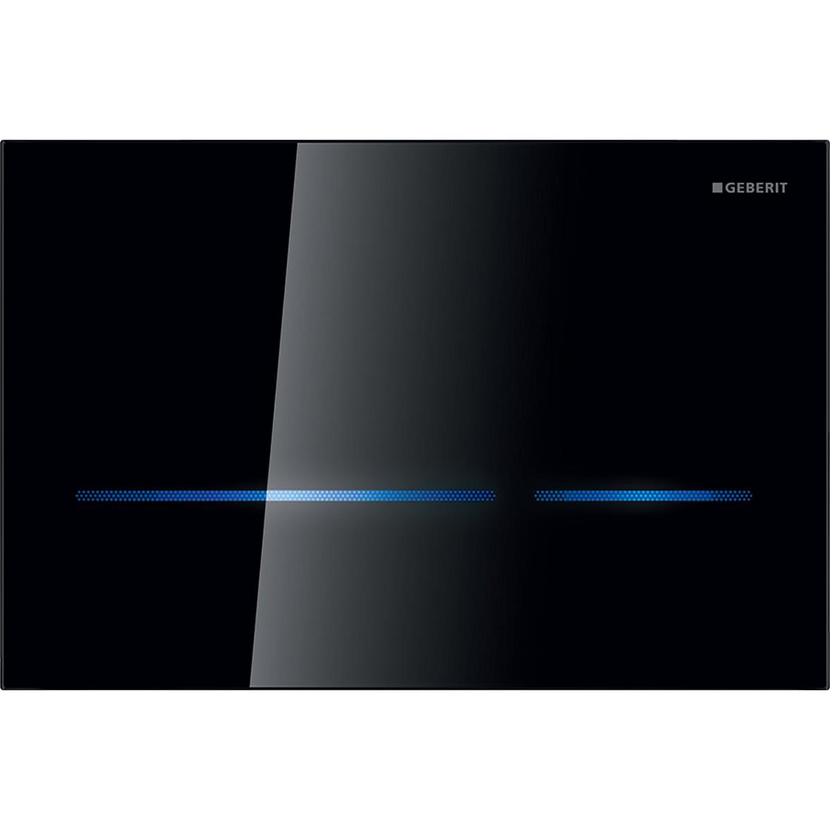 Plaque de déclenchement infrarouge Geberit Sigma80 pour réservoir à encastrer Sigma 12 cm / Verre noir