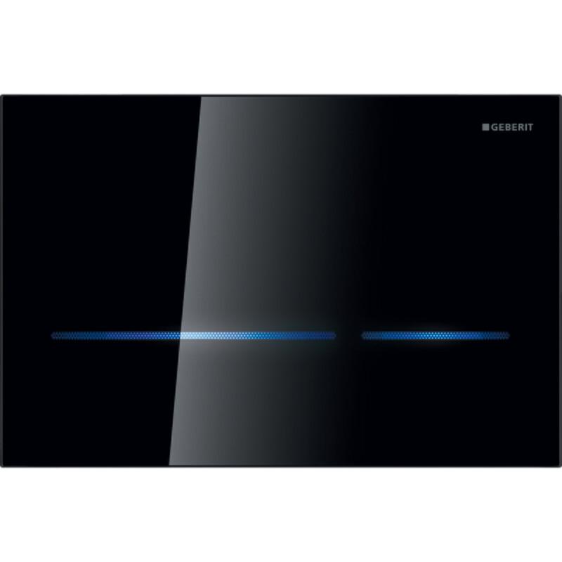 Plaque de déclenchement infrarouge Geberit Sigma80 pour réservoir à encastrer Sigma 8 cm / Verre noir
