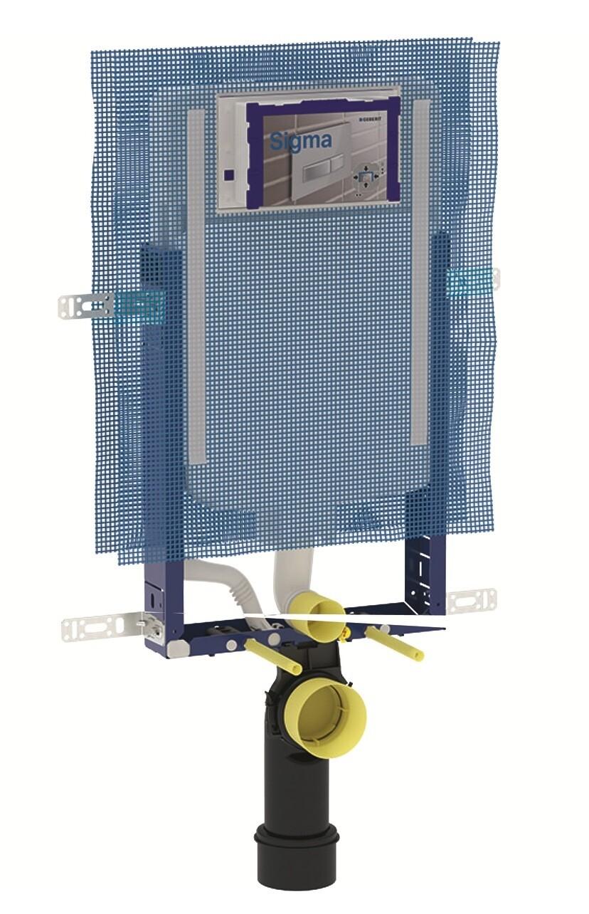 Bâti-support Geberit Combifix Sigma 8 cm pour montage dans parois maçonnées