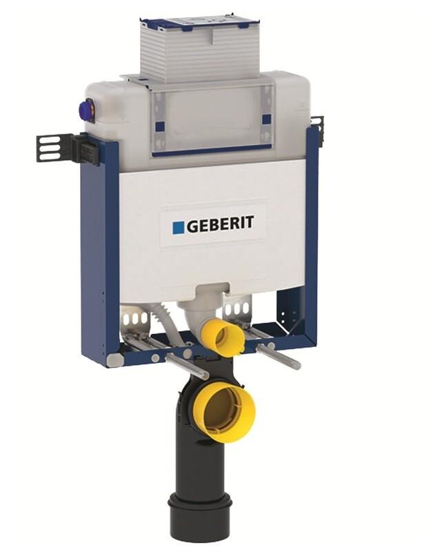 Bâti-support Geberit Combifix Omega 12 cm avec déclenchement par le haut (hauteur réduite : 82 cm), pour montage dans parois maçonnées