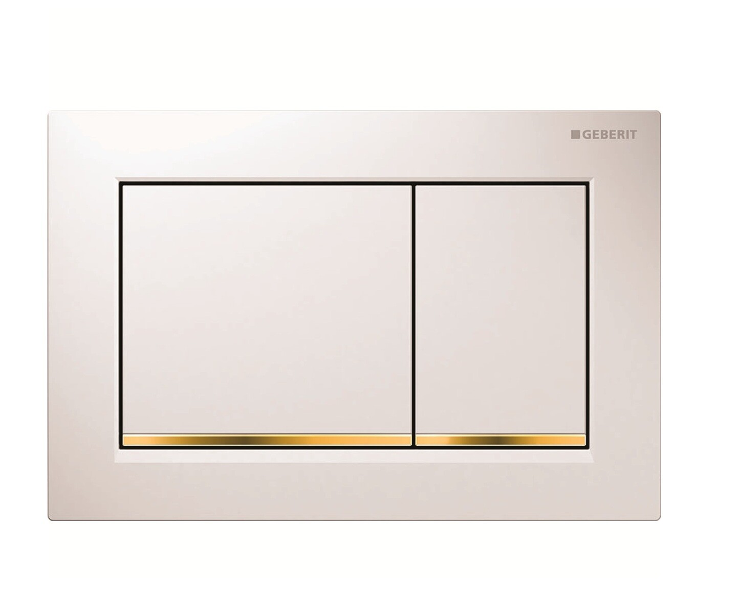 Plaque de déclenchement Geberit Omega30 pour rinçage double touche / Blanc doré