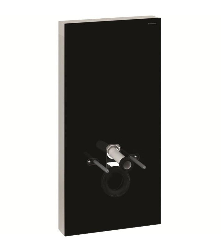 Panneau sanitaire Geberit Monolith PLUS pour WC suspendu / Verre noir