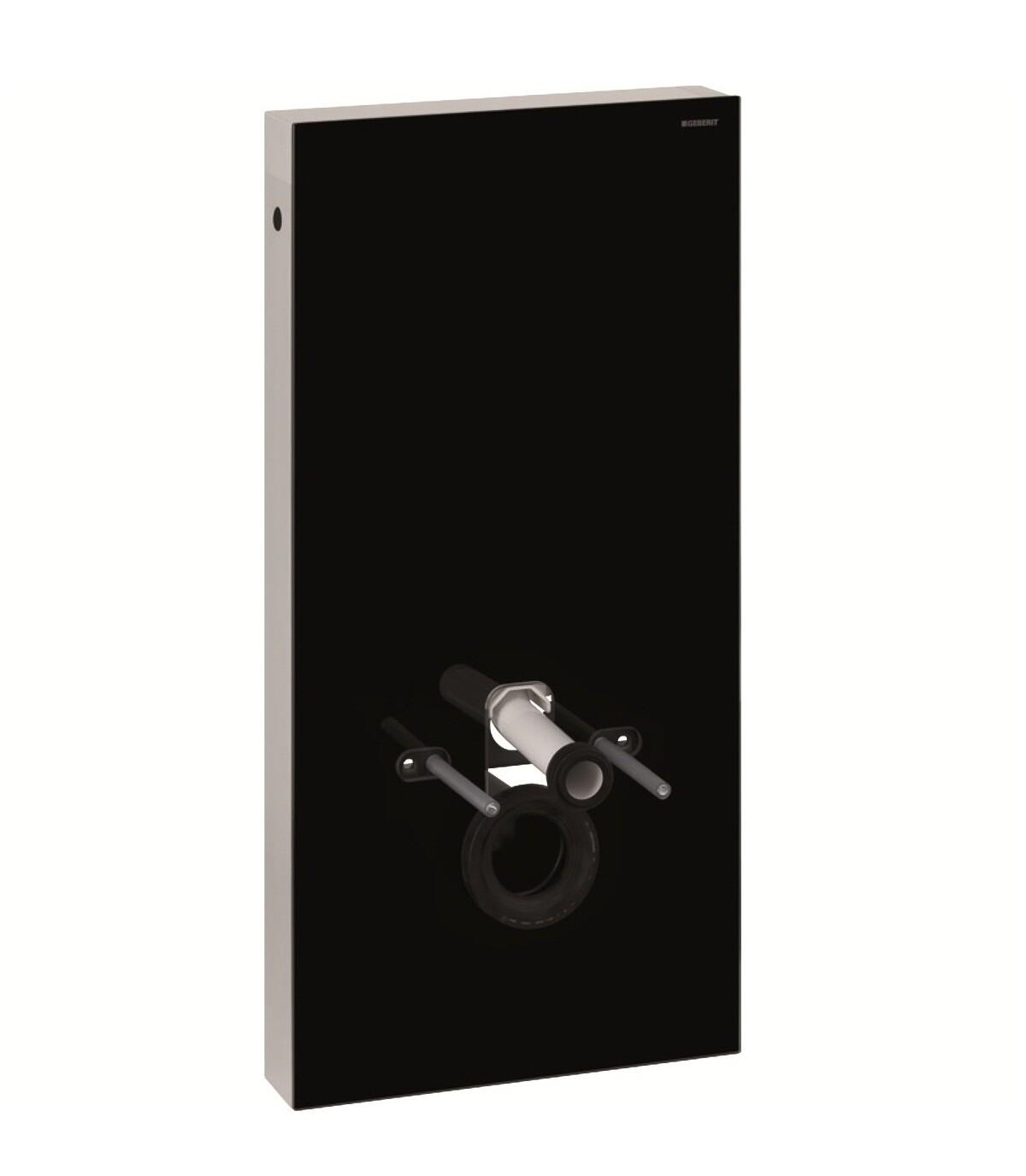 Panneau sanitaire Geberit Monolith pour WC suspendu, 101 cm / Verre noir