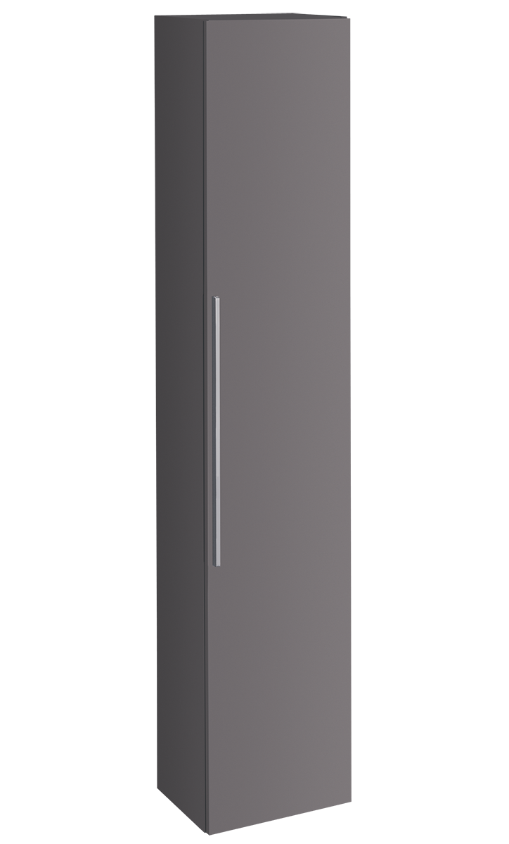 Colonne haute Geberit / Keramag iCon 180 cm avec une porte en platine laqué ultra-brillant